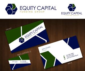designcrowd private equity upmarket bold business card design for equity capital