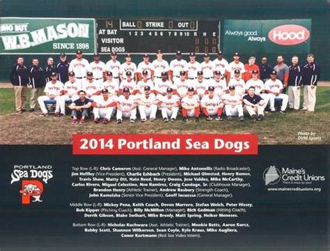 sea dogs portland maine 2014 maine credit unions portland sea dogs team photo baseball gallery the trading