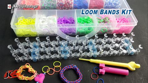 hir band loom band loom band bracelet making kit and how to use jk arts 902