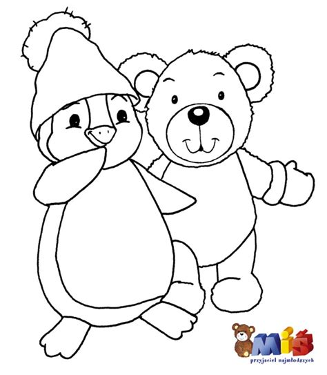 free coloring pages of christmas penguin