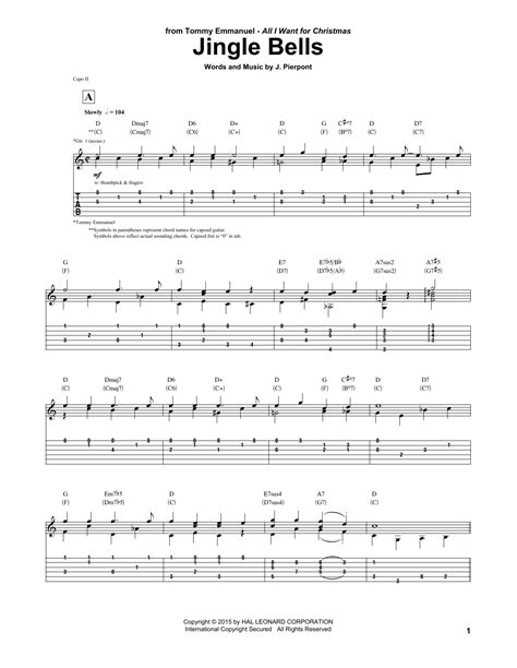 how to play jingle bells fingerstyle guitar tutorial jingle bells sheet music direct