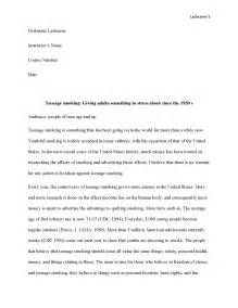 Research Paper On Smoking Cigarettes An Easy Approach To Teenage Smoking Research Paper
