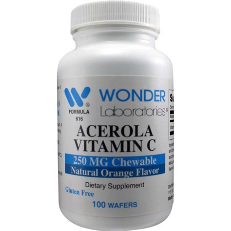 Acerola C Mengandung 100 Mg Vitamin C acerola vitamin c 250 mg chewable 100 wafers item 6161