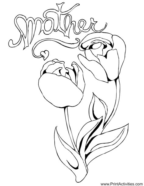 printable flowers mother s day mothers day coloring pages collection 2010