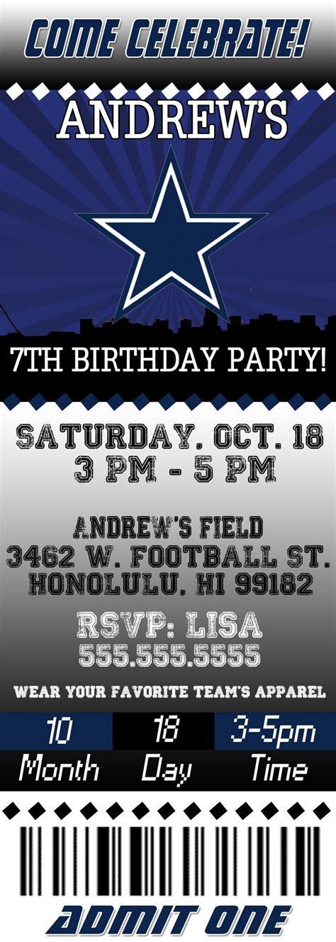 denver broncos birthday card template free printable dallas cowboys birthday invitations jin s