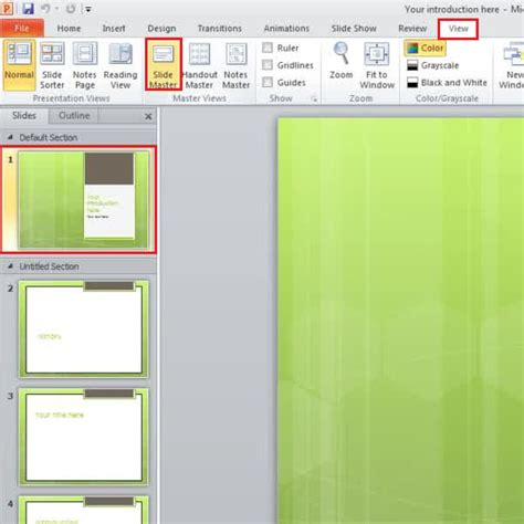 How To Change The Slide Backgrounds In Powerpoint Howtech Edit Background Graphics Powerpoint