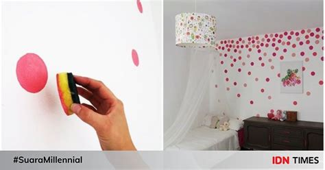 diy termudah mengecat dinding rumah bisa pakai spons