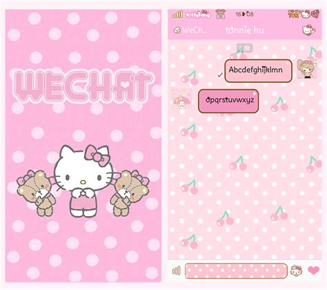 Theme Hello Kitty Iphone 6 | kitty fang hello kitty wechat theme ver 6 2 2 new