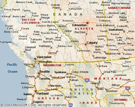 map of canada west map of western canada and us cdoovision