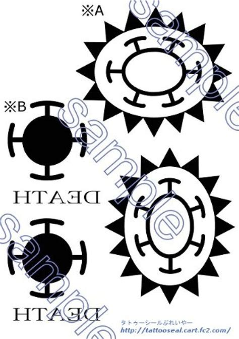 law one piece hand tattoo tattoo seal one piece trafalgar law arms hand for cosplay