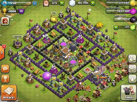 Best Defense Town Hall Level 8 2016 | clash of clans town hall 5 farming defense best base