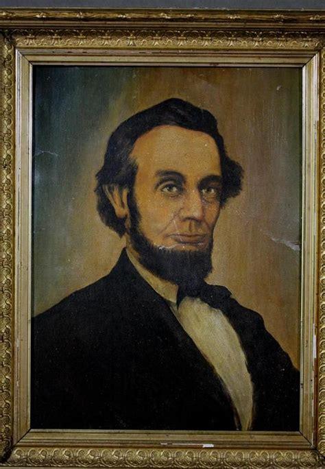 1907 antique president portrait abraham lincoln fine art 19thc antique american folk art president abraham lincoln
