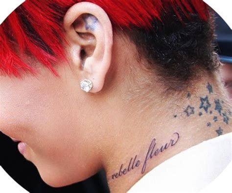 tattoo for girls designs photos rihanna new neck tattoo