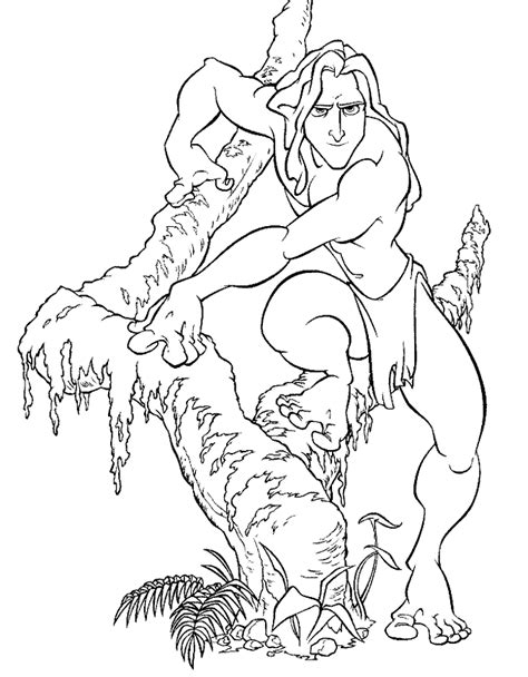 tarzan coloring pages coloringpages1001 com