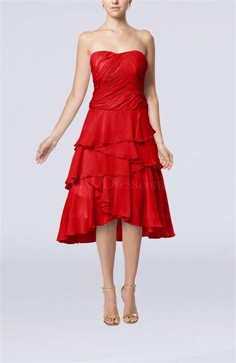www dress red romantic a line sleeveless backless chiffon ruching