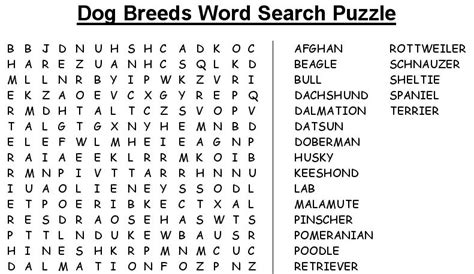 printable word search dog breeds wordsearch puzzle