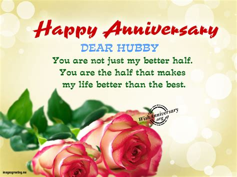 Wedding Anniversary Greetings For And In by Unique Anniversary Wishes For Husband Wishes Greetings