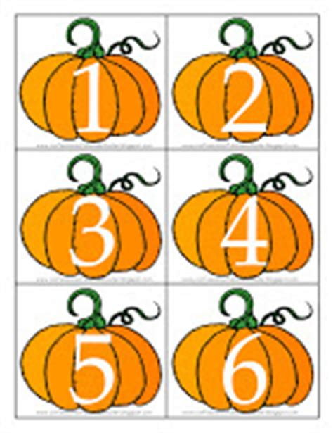 printable pumpkin number cards letter p for pumpkin confessions of a homeschooler