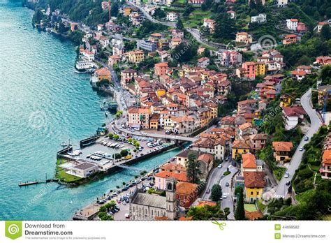 Small Vacation House Plans town of argegno lake como italy stock photo image