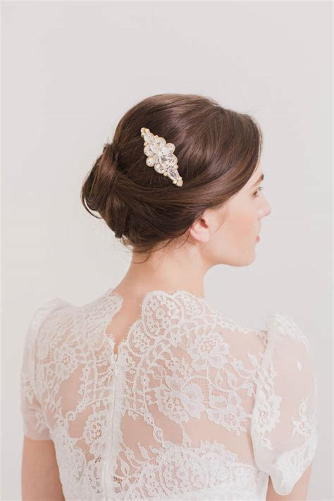 wedding hair comb with chains by britten weddings crystal and pearl wedding hair comb by britten weddings