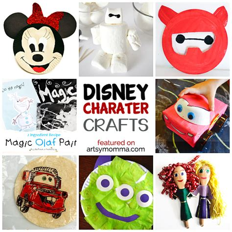 disney crafts disney character crafts made with items found in the