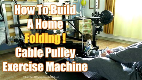 equipment diy cable pulley exercise machine