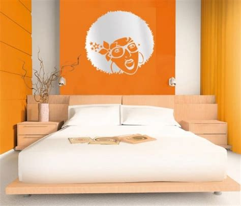 orange bedroom decor chambre orange 21 exemples pour distiller chaleur et intimit 233