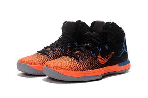 blue and orange basketball shoes 2017 air xxx1 black orange blue basketball shoes