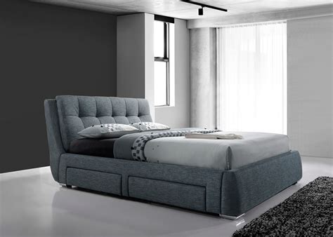 urgent king size divan bed frame with drawers and head artisan 4 drawer 5ft kingsize fabric bedframe dark grey