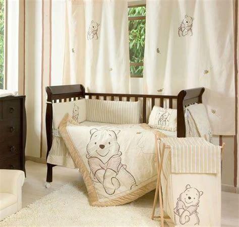 winnie the pooh nursery bedding set 4 unisex winnie the pooh baby crib bedding cot set rrp 250 00 ebay