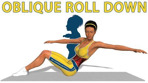exercices de pilates oblique roll