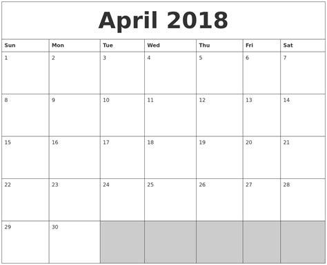 printable calendar 2018 april october 2018 calanders