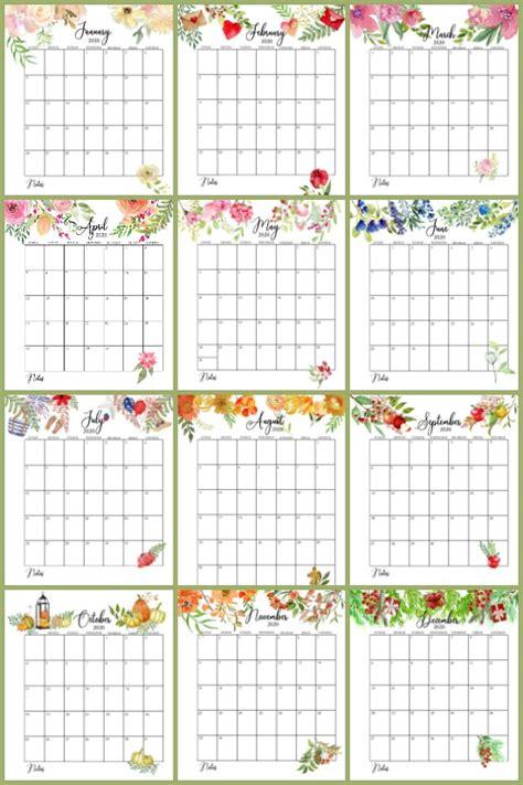 floral  printable calendar  sutton place