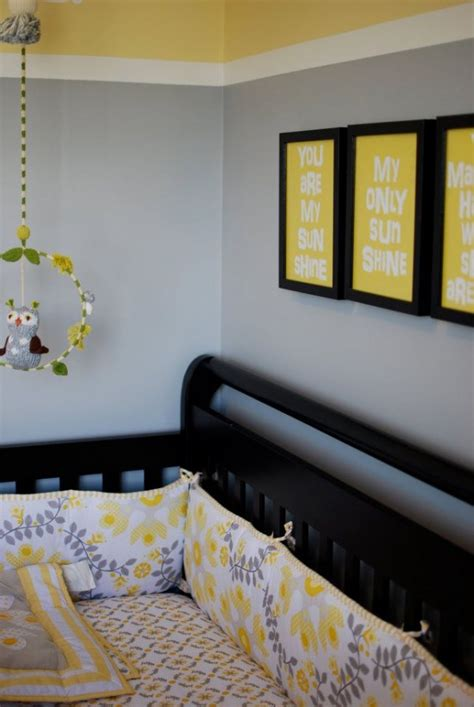 yellow and gray baby room awesome yellow baby nurseries design dazzle
