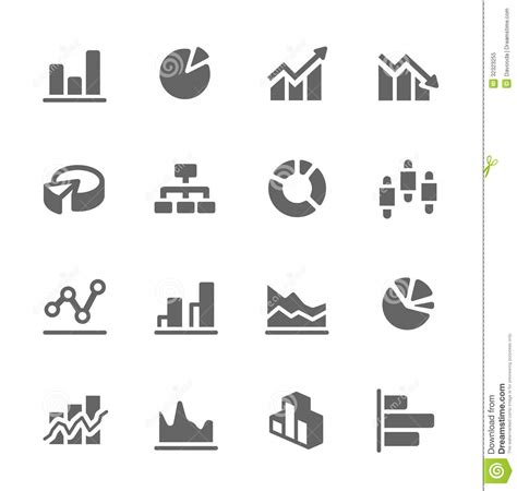 graph and diagram icon set stock vector illustration of graph and diagram icon set stock vector illustration of
