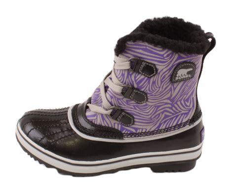 sorel tivoli youth black royal purple high top