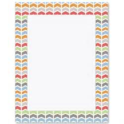 chevron border template chic chevron border paper paperdirect