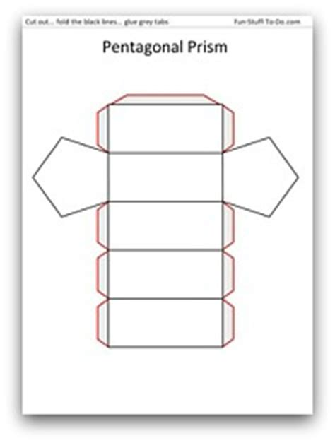 How To Make A Hexagonal Prism Out Of Paper - printable shapes