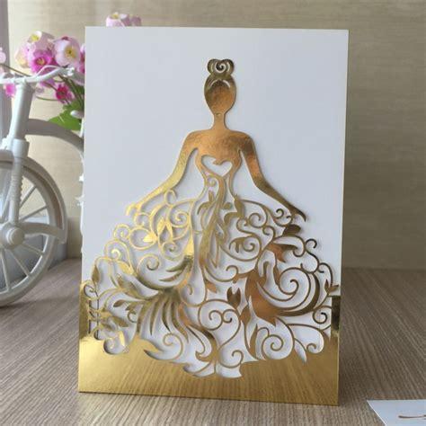 3d Dress Card Template by Cheap 150 Unids Lote Laser Cut Hermosa Ni 241 A Vestido Paty