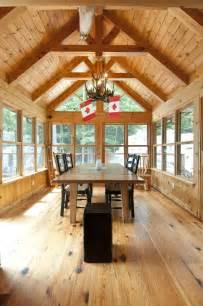 timber frame sunroom the pinestone confederation log timber frame