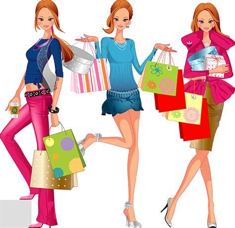 imagenes vectores compras vectores de mujer mona de compras vector clipart