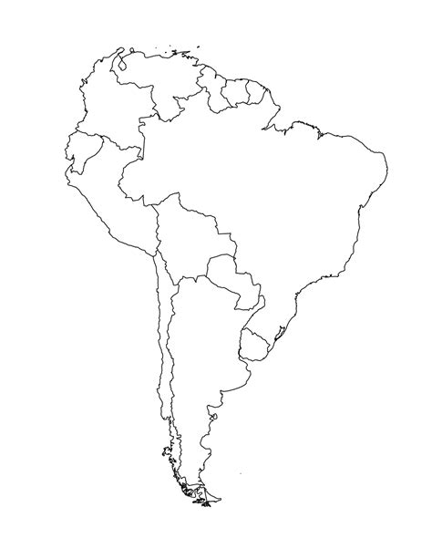 south america map outline blank blank map of south america template