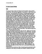 Creative Writing - War. - A-Level History - Marked by