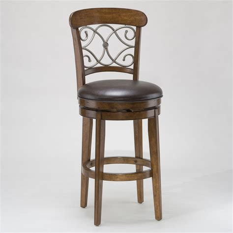 With Bar Stools furniture wooden stool with back and brown wooden