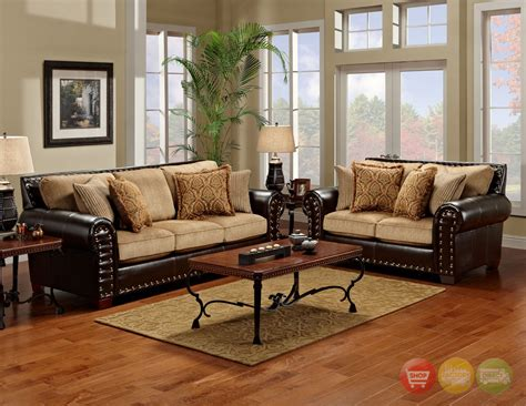 Tinga Marino Traditional Brown Tan Living Room Set Brown Living Room Chairs
