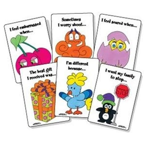 a therapeutic treasure deck of feelings and sentence completion cards therapeutic treasures collection books 17 best images about speech stuff on feelings