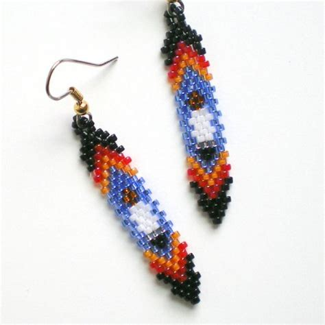 how to bead an eagle feather eagle feather earrings misschicboutique on artfire