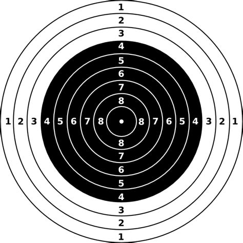 printable large rifle targets rifle shooting targets printable air rifle target clip
