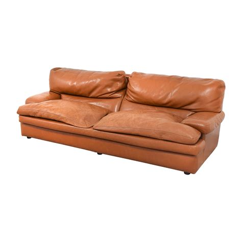 orange leather sofa sale 67 off roche bobois roche bobois burnt orange leather