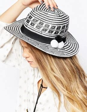Asos Basic Straw Trilby Hat asos outlet accessories outlet cheap accessories